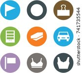 origami corner style icon set   ... | Shutterstock .eps vector #741735544