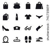 16 vector icon set   shopping...   Shutterstock .eps vector #741735859
