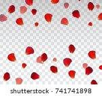 set of naturalistic rose petals ...   Shutterstock .eps vector #741741898