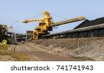 coal loading equipment... | Shutterstock . vector #741741943