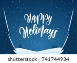 vector handwritten lettering of ... | Shutterstock .eps vector #741744934