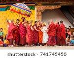 trimphu  bhutan   mar 8  2017 ... | Shutterstock . vector #741745450