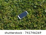 lost white smartphone with... | Shutterstock . vector #741746269