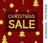 christmas sale background this... | Shutterstock .eps vector #741752638