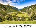 oetztal valley in austrian alps ... | Shutterstock . vector #741753706