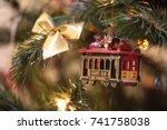 Cable Car Christmas Ornament....
