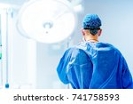 artistic portrait of surgeon... | Shutterstock . vector #741758593