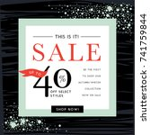 sale banner template design.... | Shutterstock .eps vector #741759844