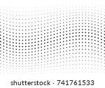 abstract halftone wave dotted... | Shutterstock .eps vector #741761533