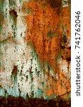 abstract rusty metal texture ... | Shutterstock . vector #741762046