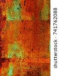 abstract rusty metal texture ... | Shutterstock . vector #741762088
