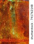 abstract rusty metal texture ... | Shutterstock . vector #741762148