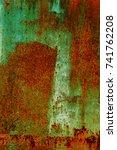 abstract rusty metal texture ... | Shutterstock . vector #741762208