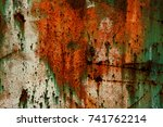 abstract rusty metal texture ... | Shutterstock . vector #741762214