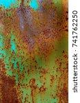 abstract rusty metal texture ... | Shutterstock . vector #741762250
