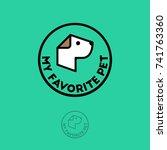 pet shop logo. food for dogs... | Shutterstock .eps vector #741763360