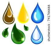 eco drop icon template.... | Shutterstock .eps vector #741766666
