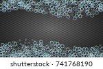 shampoo bubbles on gradient... | Shutterstock .eps vector #741768190