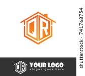 initial letter q  r  qr... | Shutterstock .eps vector #741768754