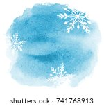 Abstract Winter Watercolor...