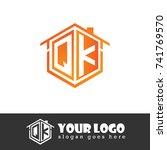 initial letter q  k  qk... | Shutterstock .eps vector #741769570