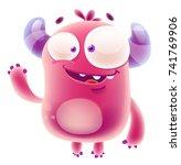 cute monster | Shutterstock .eps vector #741769906