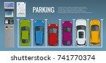 vector illustration city... | Shutterstock .eps vector #741770374