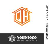 initial letter q  h  qh... | Shutterstock .eps vector #741771604