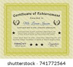 yellow certificate of