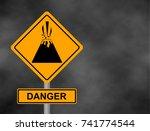 background of dark grey sky... | Shutterstock .eps vector #741774544