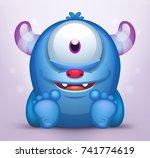 Cute Sitting Monster