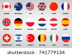 flags set | Shutterstock .eps vector #741779134