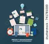 project management  concept... | Shutterstock .eps vector #741781000