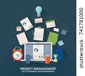 project management  concept... | Shutterstock .eps vector #741781000