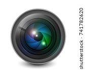 camera lens shutter aperture... | Shutterstock .eps vector #741782620