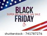 black friday sale inscription... | Shutterstock .eps vector #741787276