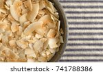 top close view of a stoneware... | Shutterstock . vector #741788386