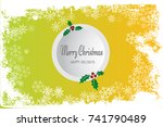 merry christmass background | Shutterstock .eps vector #741790489