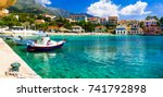 colorful greece series... | Shutterstock . vector #741792898