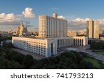 the house of russian federation ... | Shutterstock . vector #741793213