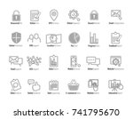 online web icon and business... | Shutterstock .eps vector #741795670