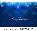 text merry christmas and happy... | Shutterstock .eps vector #741798628