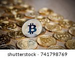 digital currency physical metal ... | Shutterstock . vector #741798769