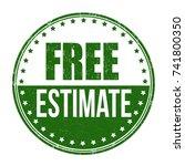 free estimate grunge rubber... | Shutterstock .eps vector #741800350