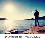 Fisherman Check Fishing Line...