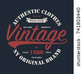 new york  ny  brooklyn vintage... | Shutterstock .eps vector #741803440