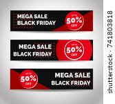 black friday discount banners ... | Shutterstock .eps vector #741803818