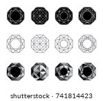 abstract polygons  imitation of ... | Shutterstock .eps vector #741814423