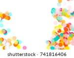 background of colorful paper... | Shutterstock . vector #741816406