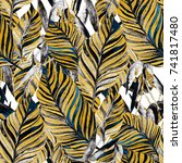 watercolor seamless pattern... | Shutterstock . vector #741817480